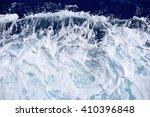 Restless Foamy Blue Sea Water...
