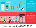 shopping center and boutique... | Shutterstock .eps vector #410397913