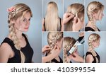 hairstyle tutorial photo for... | Shutterstock . vector #410399554