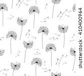 floral pattern of dandelions.... | Shutterstock .eps vector #410400964