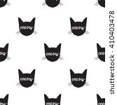 cats face meow pattern   Shutterstock .eps vector #410403478