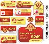 set of design elements for sale.   Shutterstock .eps vector #41040358