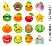 funny cartoon fruits and... | Shutterstock .eps vector #410403634