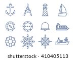 nautical vector icon marine... | Shutterstock .eps vector #410405113