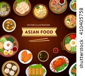 asian food. traditional... | Shutterstock .eps vector #410405758