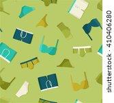 underwear on light green  ... | Shutterstock .eps vector #410406280