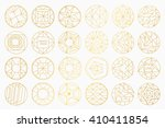 set of hipster vector geometric ... | Shutterstock .eps vector #410411854