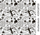 medical icons seamless pattern | Shutterstock .eps vector #410416918