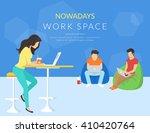coworking center concept.... | Shutterstock .eps vector #410420764