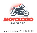 sport motorcycle  logo...   Shutterstock .eps vector #410424043