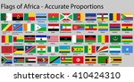 flags of africa continent with... | Shutterstock .eps vector #410424310