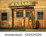 Old Gas Station And Pump In...