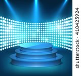 illuminated festive shiny blue... | Shutterstock .eps vector #410425924