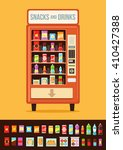 vending machine with food.... | Shutterstock .eps vector #410427388