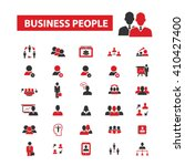 business people icons  | Shutterstock .eps vector #410427400