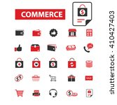 commerce icons  | Shutterstock .eps vector #410427403