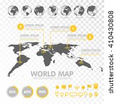 world map 3d with set of info... | Shutterstock .eps vector #410430808
