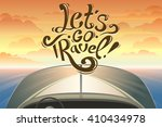 riding on a boat by first... | Shutterstock .eps vector #410434978