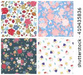 set of seamless floral... | Shutterstock .eps vector #410435836