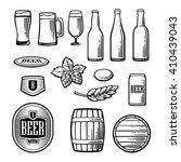 beer vector flat icons set  ...   Shutterstock .eps vector #410439043
