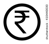 indian rupee coin icon vector... | Shutterstock .eps vector #410440030