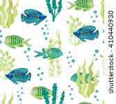 Watercolor Fish Seamless...