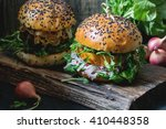 Two Homemade Veggie Burgers...