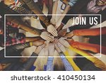 join us joining membership... | Shutterstock . vector #410450134