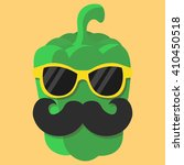 vector green sweet pepper... | Shutterstock .eps vector #410450518