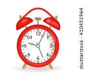 red alarm clock  on white... | Shutterstock .eps vector #410451964