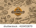 template design menu restaurant ... | Shutterstock .eps vector #410452870