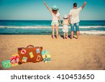 happy family having fun on the... | Shutterstock . vector #410453650