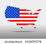 america flag map   vector...