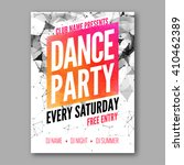 dance party poster template.... | Shutterstock .eps vector #410462389