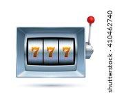 silver slot machine... | Shutterstock .eps vector #410462740