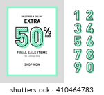 clean trendy sale banner... | Shutterstock .eps vector #410464783