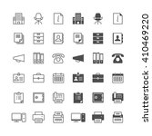 office supplies icons  included ... | Shutterstock .eps vector #410469220