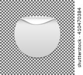 round angle. sticker peel... | Shutterstock .eps vector #410470384