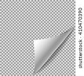 white gradient paper curl...   Shutterstock .eps vector #410470390