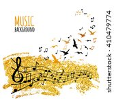 various music notes on staff... | Shutterstock .eps vector #410479774