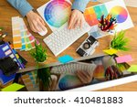 young cute graphic designer... | Shutterstock . vector #410481883