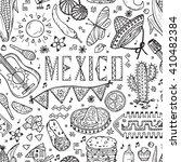 mexican items. mexico vector... | Shutterstock .eps vector #410482384