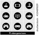 video games icon set | Shutterstock .eps vector #410489839