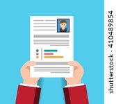 cv resume employee recruitment...   Shutterstock .eps vector #410489854