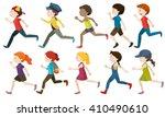 Boys And Girls Running...