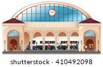 people at train station... | Shutterstock .eps vector #410492098