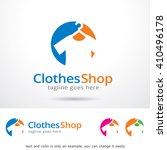 clothes shop logo template... | Shutterstock .eps vector #410496178