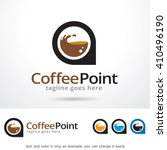 coffee point logo template... | Shutterstock .eps vector #410496190