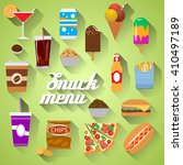 food icons.flat design modern... | Shutterstock . vector #410497189