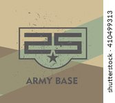army base military stamp  label ... | Shutterstock .eps vector #410499313